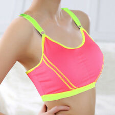 Women Lady Sports Yoga Athletic Solid Wrap Chest Strap Vest Tops Bra Running New