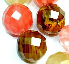 """10mm Faceted Multi-Color Watermelon Tourmaline Gemstone loose Beads 15"""" Strand"""