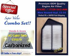 AF6282 C35519C Engine and Carbonized Cabin Filter Combo For New Accord 4CYL