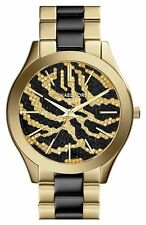 MICHAEL KORS MK3315 Gold Black Zebra Glitz Stainless steel Acetate Women Watch