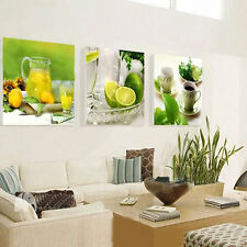 3 Panel Modern Printed Fruits Painting Pictures for Kitchen Living Room Decor