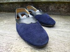 NEW AND LINGWOOD MANDARIN SLIPPERS – BLUE – UK 11 – VERY GOOD CONDITION