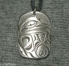 New BEAUTIFUL TRICKSTER Native Pewter Haida RAVEN NECKLACE