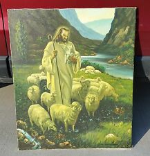 "VNTG ORIG. OIL ON CANVAS  ""JESUS THE SHEPHERD""  PAINTING ~ 24"" by 28"" ~ SIGNED ~"