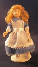 Miniatura Dollshouse PORCELLANA Bambola Bambina Vestito In Blu ~ flessibile 1:12