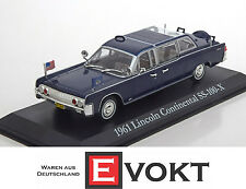 Greenlight Lincoln SS-100-X US President Limousine 1961 Model Car 1:43 Genuine