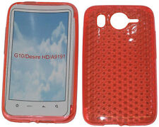 TPU Pattern Gel Case Protector Cover Pouch Orange For HTC Desire HD G10 A9191 UK