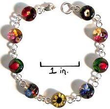 Sterling Silver Bracelet With Real Flowers