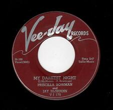 POPCORN/R & B-PRISCILLA BOWMAN & JAY McSHANN--MY DARKEST NIGHT/I'VE GOT NEWS FOR