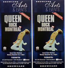 3 X QUEEN CINEMA FLYERS - QUEEN ROCK MONTREAL 1981 - FREDDIE MERCURY