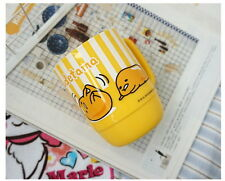 Sanrio ぐでたま Gudetama Kawaii Egg Plastic PP 350ml Yellow Cup Mug KRT-661136B
