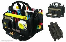 Electrician Tool Bag Pouch Large Pocket Storage Contractor Custom Leathercraft