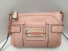 GUESS Messenger Crossbody Bag Blush Shoulder Purse New