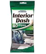 40 INSTANT CAR INTERIOR DASH BOARD SHINE WIPES  CLEAN RESEALABLE BAG CAR PRIDE