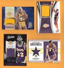 WILT CHAMBERLAIN GAME WORN KAREEM JABBAR MAGIC JOHNDSON JERSEY KOBE BRYANT CARD