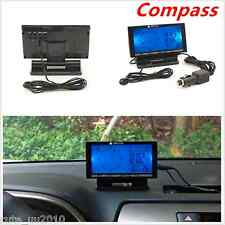 "In-Car Digital Compass 4.6"" LCD Display Blue LED with Clock Thermometer Calendar"