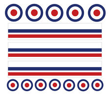 MOD/RAF DECALS Road Mountain Bike Bicycle Cycle stripes Frame Stickers
