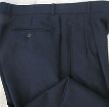 Hugo Boss Solid Charcoal Gray Wool Pants Trousers 37 X 32 Pleated Cuffed Perfect
