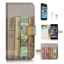 iPhone 7 (4.7') Flip Wallet Case Cover P3072 Old Book