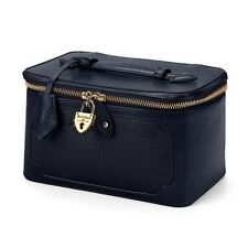 Aspinal di Londra, Marylebone COSMETIC CASE in Navy Pebble