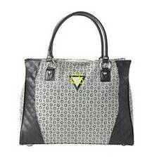 NWT $100-Womens G GUESS Litchfield Shopper Black Gray Travel Tote Handbag Purse