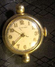 Pretty Ladies 14 K Yellow Gold Concord Vintage 17 Jewel Watch Parts Repair