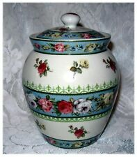 Shabby VICTORIAN COUNTRY ROSE TRANSFERWARE JAR Chic