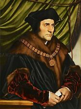 Peinture ANTIQUE Holbein Junior ministre Sir Thomas More Art Imprimer lah508a