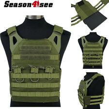 EMERSON Tactical 1000D Molle JPC Airsoft Combat Vest With Plates Paintball Green