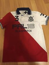 NWT Polo Ralph Lauren Black Watch Custom-Fit Colorblocked Polo Shirt MED,