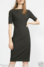 ZARA SIZE L 40 42 CHECKED PRINTED SHIFT TUBE MIDI DRESS KLEID MIDIKLEID KARIERT