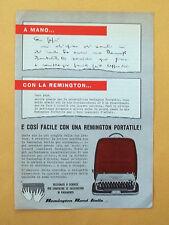 D299 - Advertising Pubblicità - 1959 - REMINGTON MACCHINA DA SCRIVERE PORTATILE