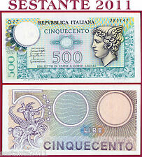 (es)  ITALY ITALIA  - 500 Lire MERCURIO  20.12. 1976 -  P 95  - NUEVO / UNC