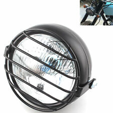 Motorcycle Headlight w/ Metal Cover for Cafe Racer Chopper Harley Yamaha Honda