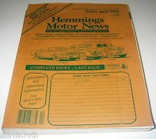MAGAZINE Hemmings Motor News April 1998 Classic Car Auto Classified Ads.