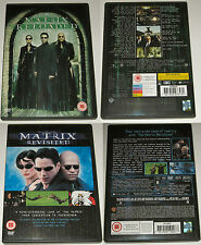 THE MATRIX REVISTED AND MATRIX RELOADED WARNER REGION 2 PAL DVD