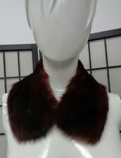 MINT MAHOGANY CANADIAN MINK FUR COLLAR WRAP SCARF WOMEN WOMAN