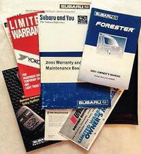 2001 SUBARU FORESTER OWNER'S MANUAL, OWNER HANDBOOK, WARRANTY, COMPLETE FOLDER