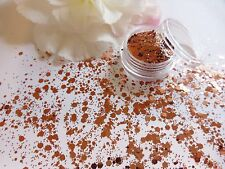 Nail Art Chunky *Rose* Gold Golden Hexagon Glitter Spangles Mix Pot Decoration
