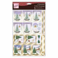 Anita's Foiled Decoupage - Christmas Village great for cards and crafts