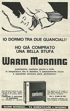 W8497 Stufa Warm Morning - Pubblicità 1963 - Vintage Advertising