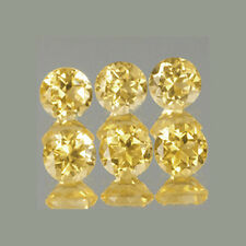 3.5mm 6pc Set VVS Round Natural A Yellow Citrine cct1