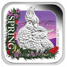 Australia 2013 Four Seasons Square Shaped #4 Spring Cockatoo $1 Silver Proof