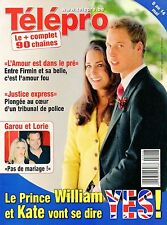 french magazine Télépro N°2931 william et kate middleton 2010