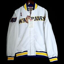 100% Authentic Mitchell & Ness Warriors Warm Up Jacket Size 36 S - curry jersey