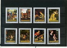 FUJEIRA 1972 Mi#1362-1369A PAINTINGS SET OF 8 STAMPS PERF.MNH