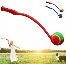 Interactive Ball Thrower Stick Launcher Dog Toy Pet Puppy Chew Fetch Training