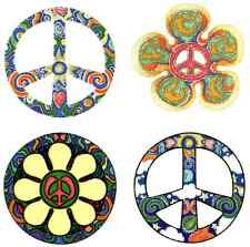 4 Peace Sign Set - Window Stickers / Decals