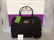 NWT WKRU3529 Authentic Kate Spade small Loden Blake Avenue Nylon handbag Black