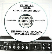 Valhalla 2575A AC/DC Current Shunt Operating & Service Manual
